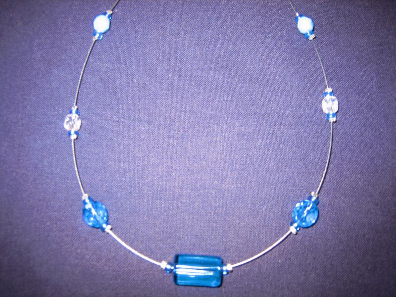 collier perle fil cable